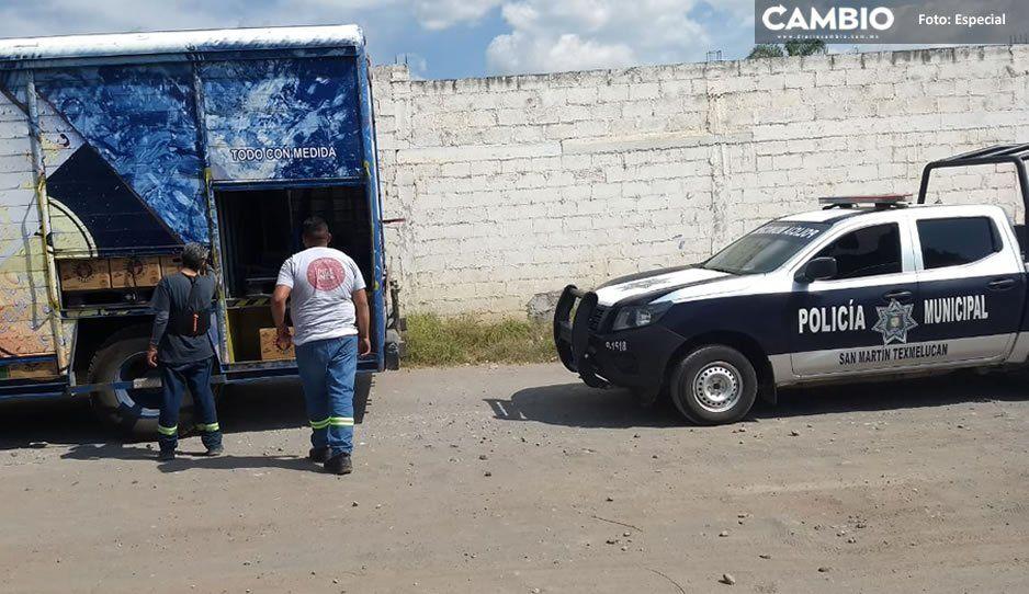 Borrachera segura: atracan camión de chelas en Texmelucan y se llevan 50 mil pesos en producto
