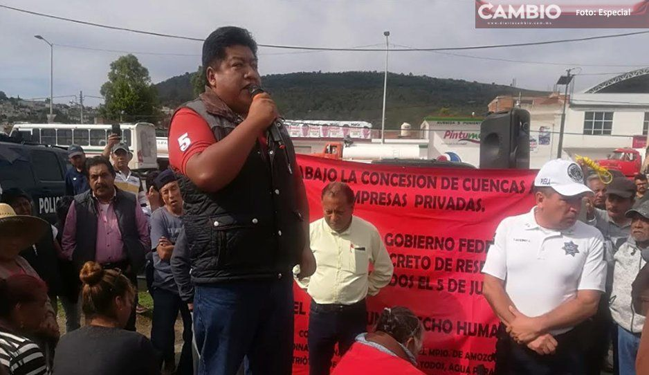 Pseudo líder transportista chantajea a gobierno de Amozoc con cierre de carretera federal Puebla - Tehuacán