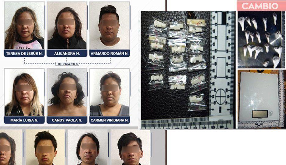 Caen 10 narcomenudistas con 169 dosis en Analco