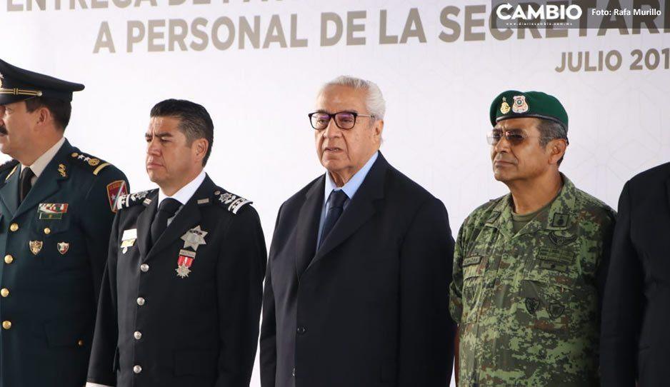 Pacheco Pulido entrega 51 patrullas y estímulos a personal de la SSP