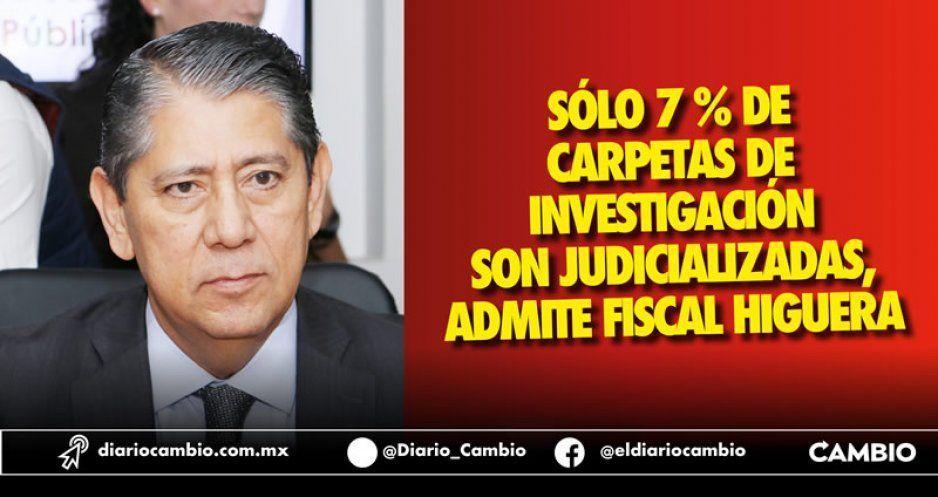 Sólo se judicializaron 7 % de las 64 mil carpetas: Fiscalía