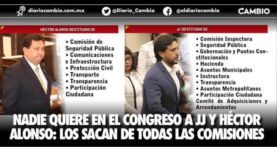 Culmina exterminio en el Congreso: sacan a José Juan y Alonso de todas las comisiones
