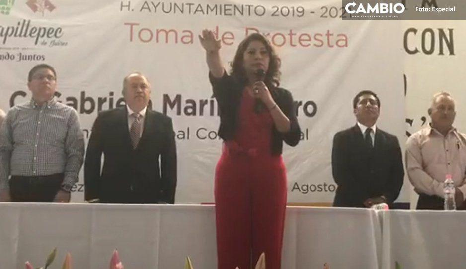 Toma protesta Gabriela Marín Castro como alcaldesa de Mazapiltepec de Juárez