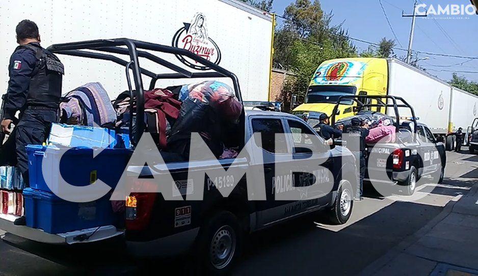 FOTOS: Tras mega operativo detienen a tres personas y recuperan mercancía en Texmelucan