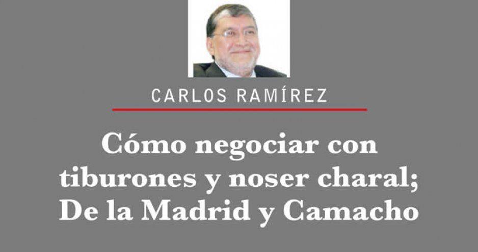 Cómo negociar con tiburones y no ser charal; De la Madrid y Camacho