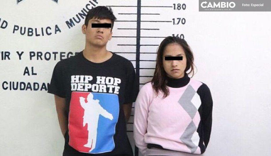 Detiene policía de San Pedro Cholula a pareja por presunto robo de taxi