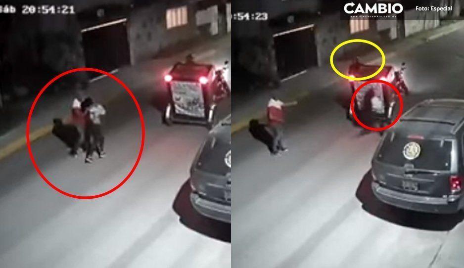 Sólo le faltó la capa: Valeroso mototaxista salva a jovencita de ser levantada (VIDEO)