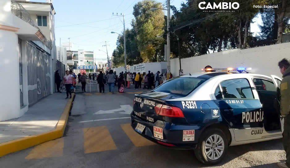 Refuerza Seguridad Pública programa Mi Escuela Segura en Cuautlancingo