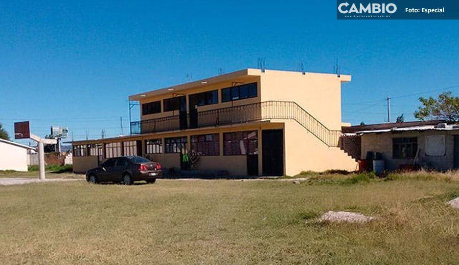 Atracan primaria en Texmelucan, delincuentes se llevaron cerca de 25 mil pesos