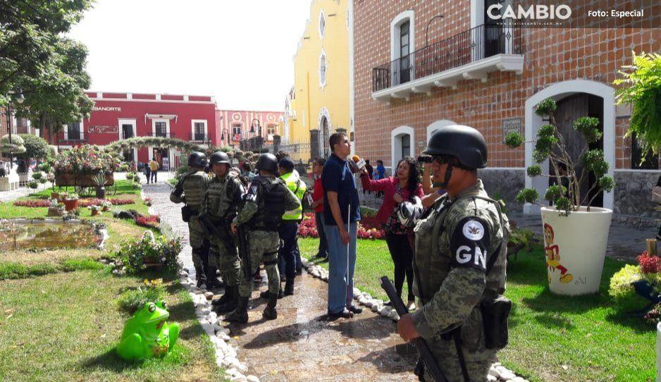 Policía Municipal y Guardia Nacional  aumentan la seguridad de atlixquenses