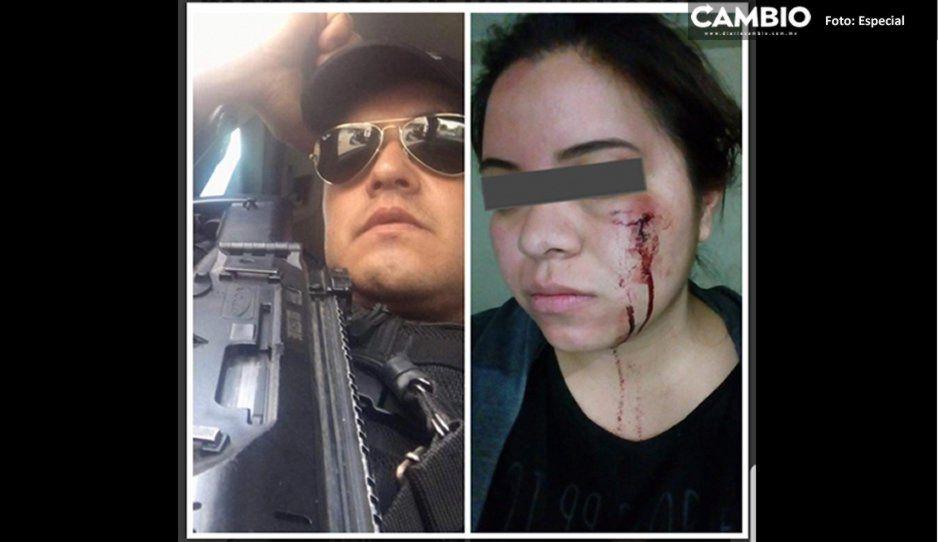 ¡El colmo! Policía de Cuautlancingo golpea a una mujer por no dejarse manosear