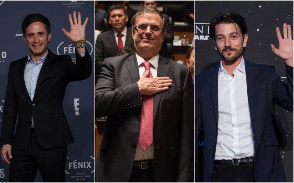 Gael García corrige ortografía de Marcelo Ebrard y lo termina confundiendo con Diego Luna