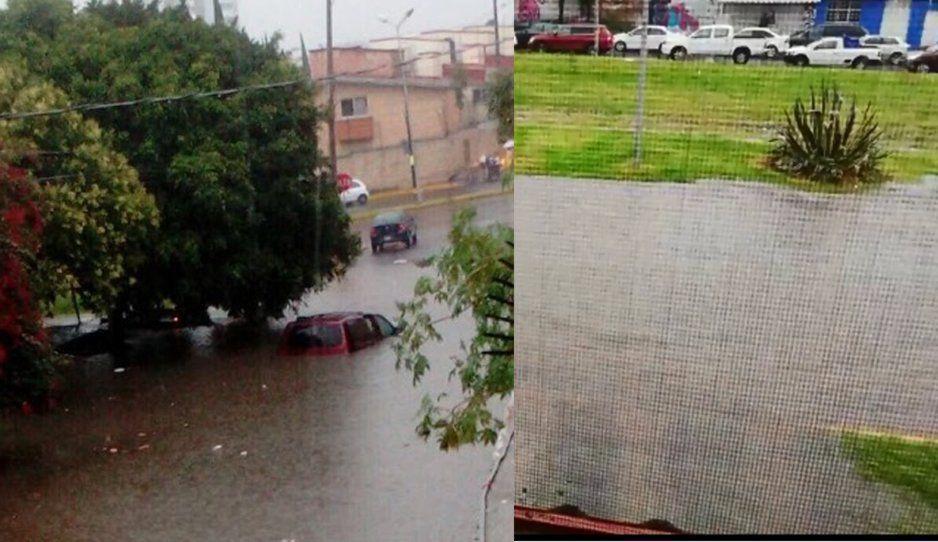 IMPACTANTE inundación en la avenida Margaritas, autos y transeúntes quedan atrapados (VIDEO)
