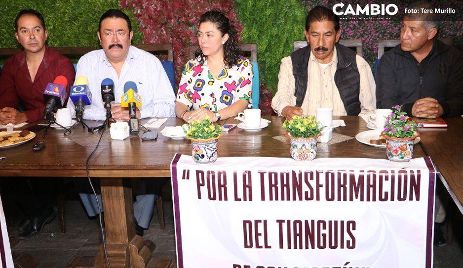 Tianguistas ofrecen mejor seguridad  en Texmelucan que Norma Layón