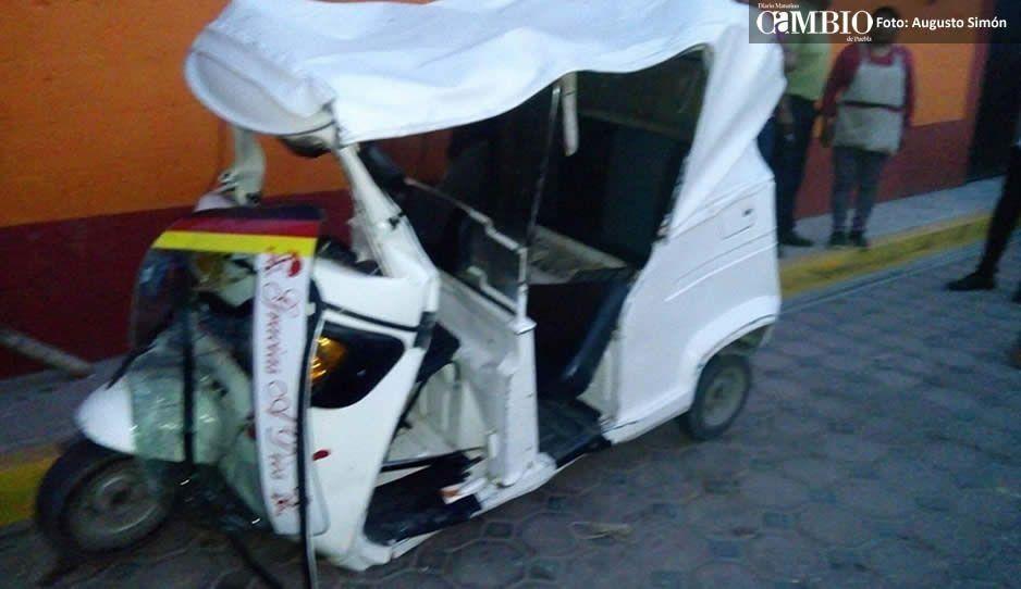 Mototaxistas hacen zafarrancho en seguridad pública de Huejotzingo