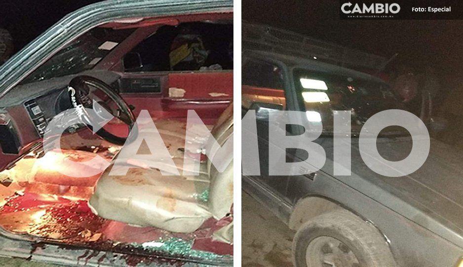 Atacan a balazos a una familia en intento de asalto en Tlacotepec; hay tres heridos