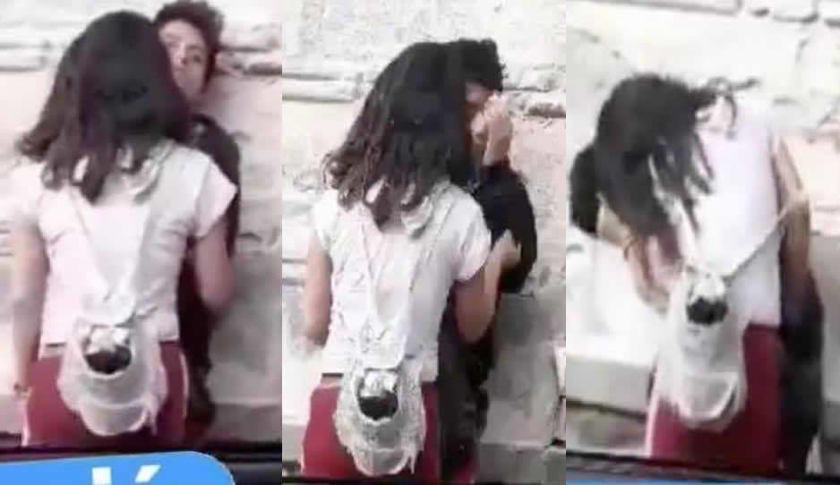 Novia tóxica le da una golpiza a su novio en pleno Paseo Bravo (VIDEO)