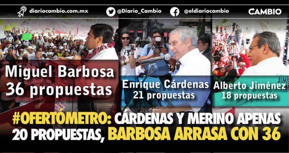 Candidato de Morena se lleva el Ofertómetro: hizo 36 propuestas sólidas
