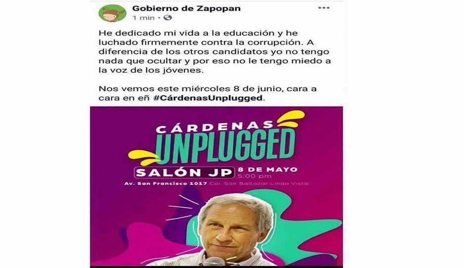 Edil de Zapopan sí usó recursos públicos para apoyar a Cárdenas, confirma TEPJF