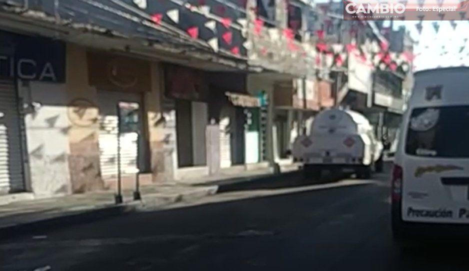 Pipa robada es abandonada y recuperada por Policía Federal en Texmelucan (VIDEO)