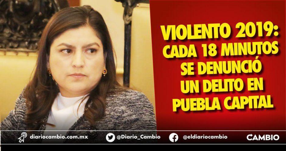Violento 2019: cada 18 minutos se denunció un delito en Puebla capital