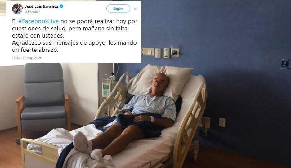 Chelís cancela su Facebook live por sus problemas de salud