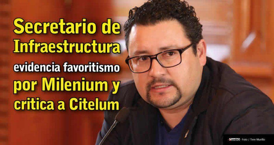 Secretario de Infraestructura evidencia favoritismo por Milenium y critica a Citelum
