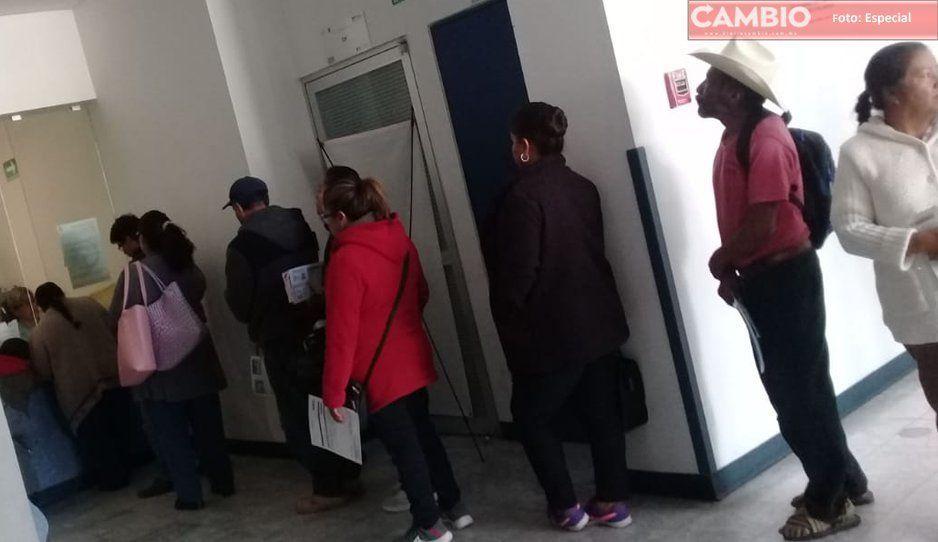 Especialistas se van de vacaciones y les cancelan consultas en Hospital de Atlixco