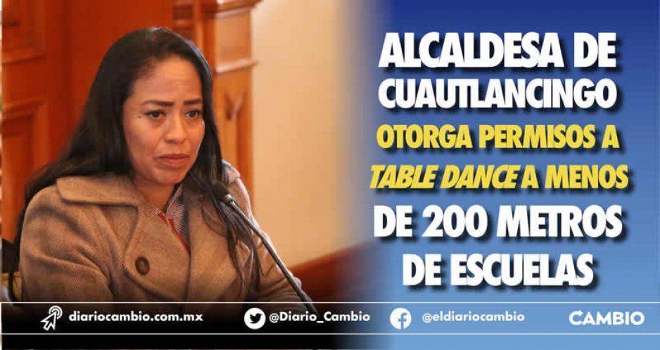 Alcaldesa de Cuautlancingo permite apertura de table enfrente de dos escuelas  (VIDEO)