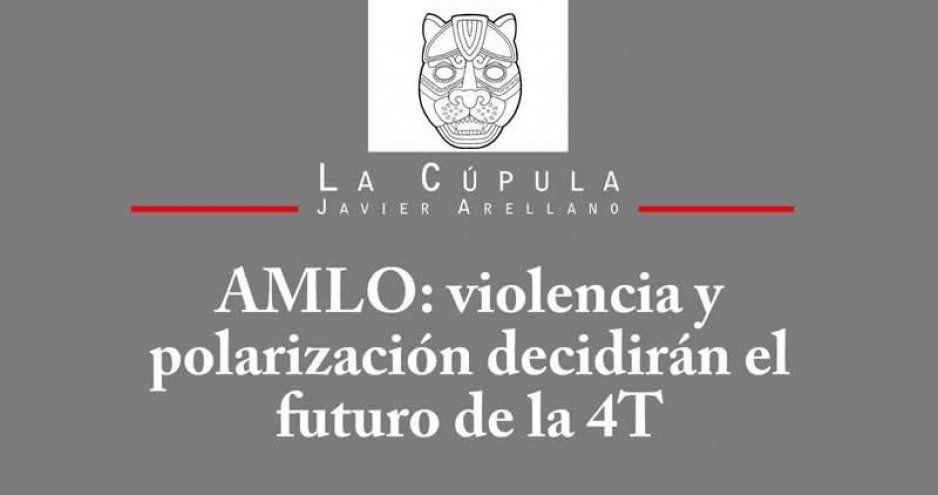 AMLO: violencia y polarización decidirán el futuro de la 4T