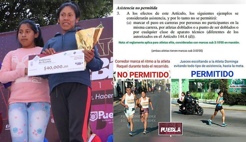 Acusan de tramposa a Raquel Varela, la mejor poblana del Maratón de Puebla 2019