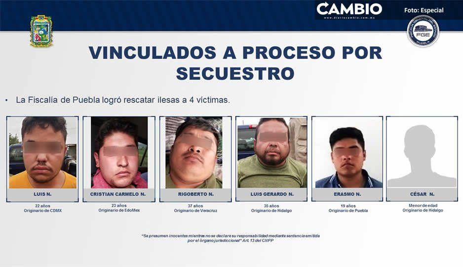Desarticulan Fiscalías de Puebla e Hidalgo  banda de secuestradores en la Sierra Norte