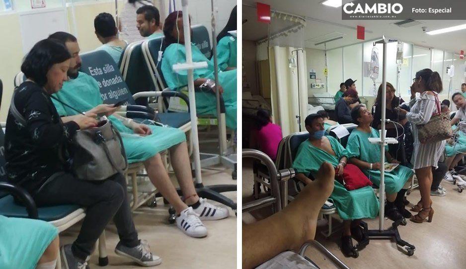 Hospital IMSS La Margarita como nosocomio de guerra mientras AMLO dice que no pasa nada (VIDEO y FOTOS)