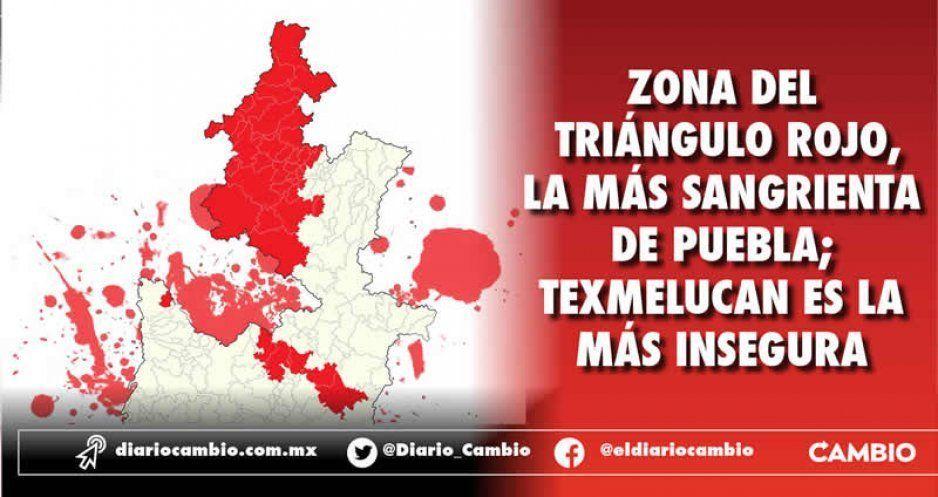Zona del Triángulo Rojo, la más sangrienta de Puebla; Texmelucan es la más insegura