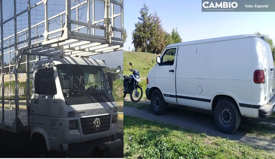 Policía Municipal de Texmelucan recupera dos vehículos con reporte de robo