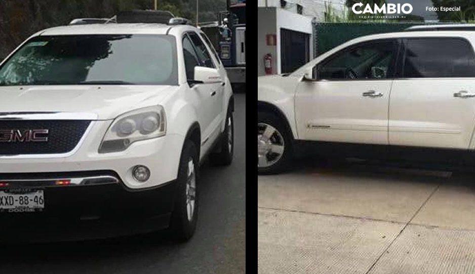 Comando armado roba camioneta en la carretera La Colorada - Tepexi de Rodríguez