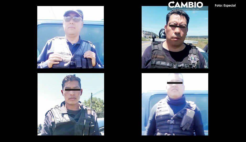 Guardia Nacional detiene a cuatro policías cachirules de Nopalucan
