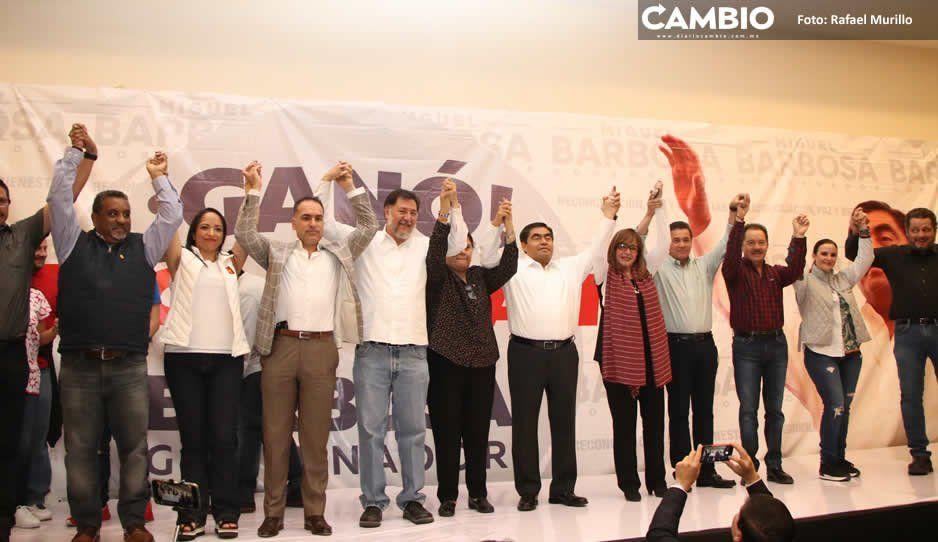 Barbosa festeja triunfo de la 4T e invita a sus rivales a reconciliarse por Puebla