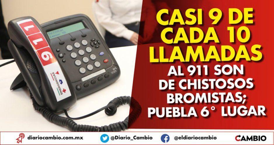 Casi 9 de cada 10 llamadas al 911 son de chistosos bromistas; Puebla 6° lugar