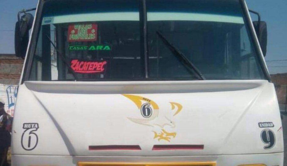 Se roban unidad 9 del Ruta 6 cerca del aeropuerto de Huejotzingo
