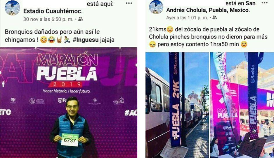 Este fue uno de los runners que se robaron las medallas de 21 km pese a inscribirse en 10 km