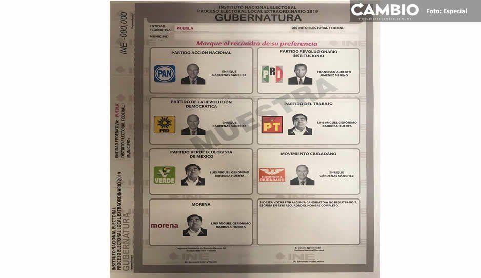INE define boletas: Barbosa y Cárdenas aparecen tres veces, Jiménez sólo una