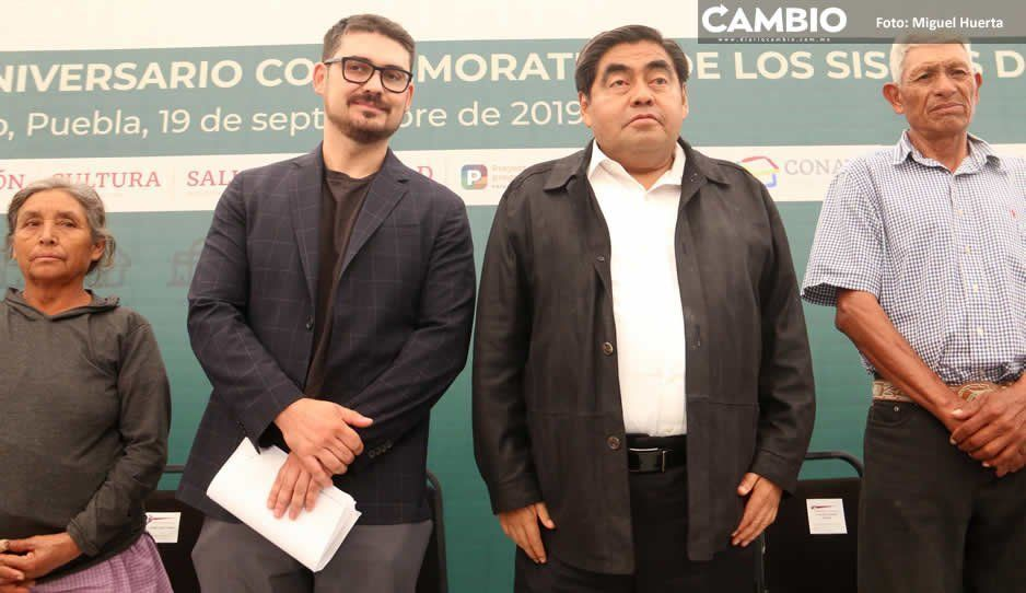 Miguel Barbosa y Román Meyer encabezan ceremonia conmemorativa por sismo de 2017