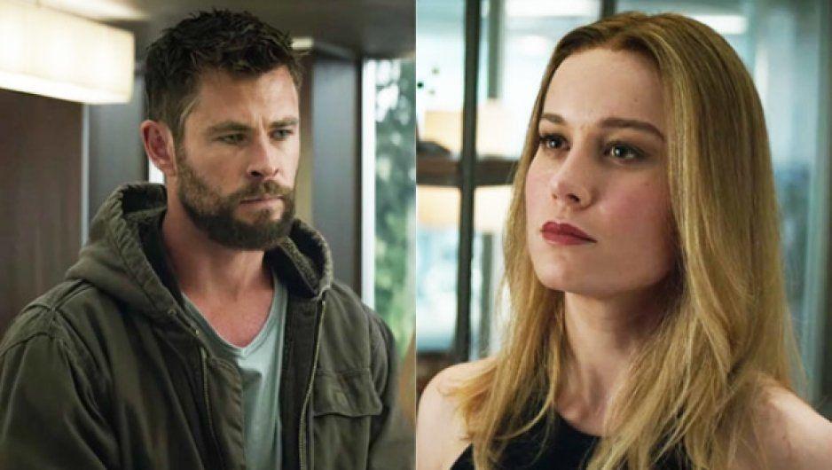 Fans se enamoran de la pareja Thor-Capitana Marvel en Avengers Endgame