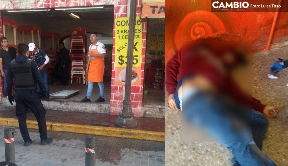 Taquero le hacía la competencia y hamburguesero lo mató en Cholula