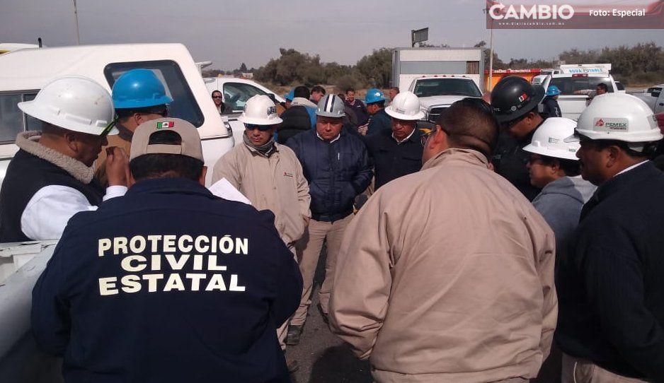 Pemex y PC sellan varias tomas huachigaseras en Tepeaca