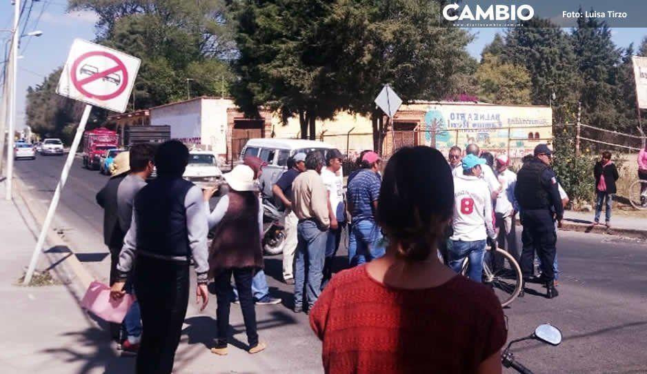 Ex candidatos protestan en Tonantzintla por presunto fraude electoral en elección