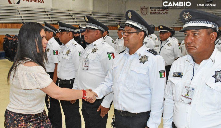Reconoce alcaldesa Norma Layón labor de  Policía y Vialidad municipal de San Martín