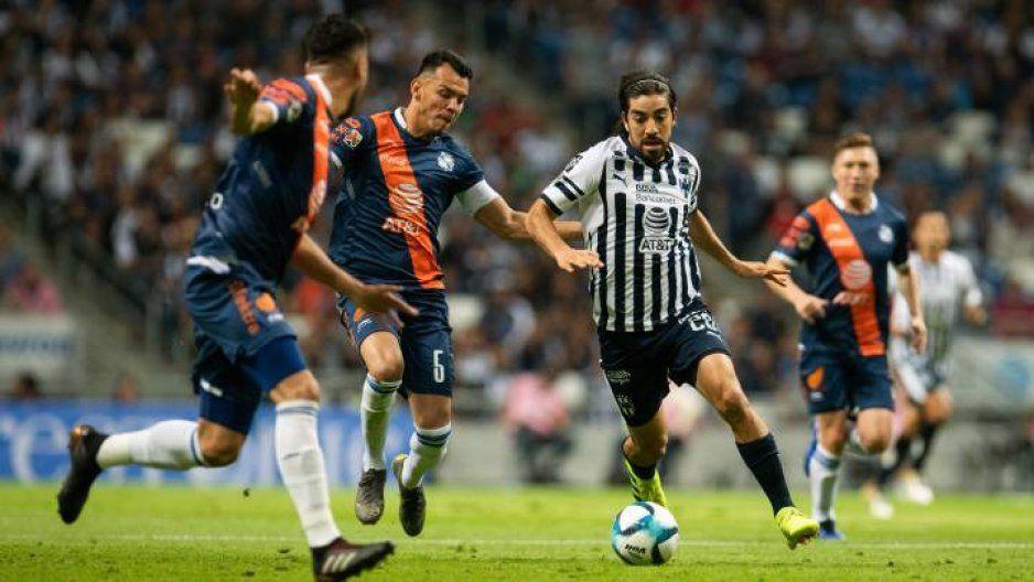 Funes Mori y Nico Sánchez los verdugos del Puebla en su visita a Monterrey al medio tiempo