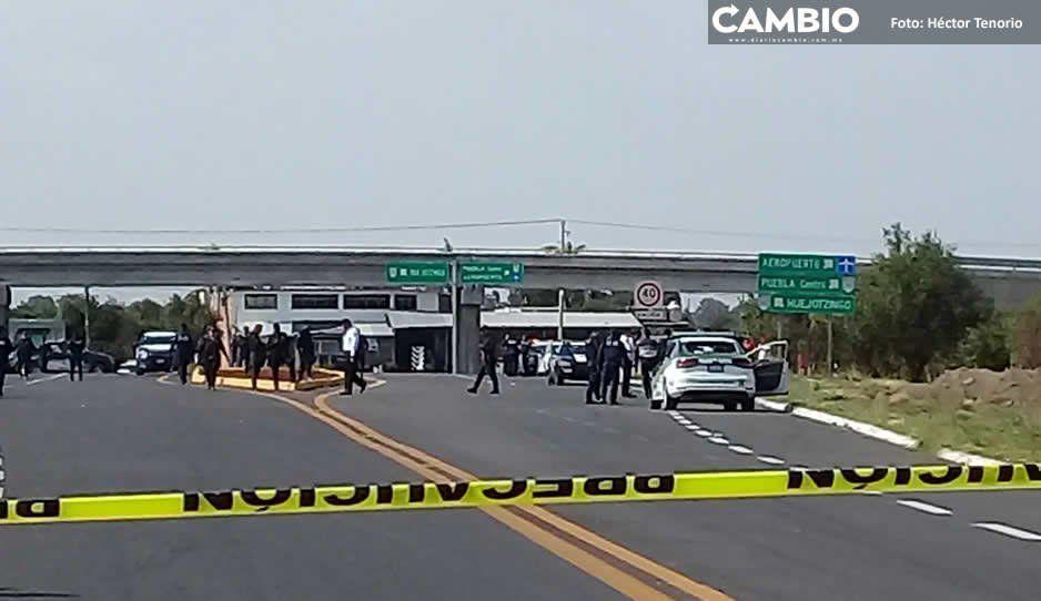 Balean a policía de vialidad estatal en enfrentamiento en la México-Puebla